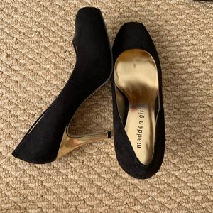 Madden Girl black and gold heels